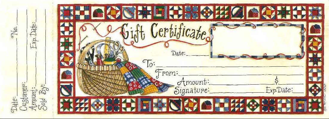 "#132sp-""Happy Quilting"" Gift Certificate"